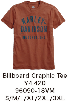 Billboard Graphic Tee ¥4,420 96090-18VM S/M/L/XL/2XL/3XL