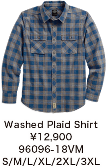 Washed Plaid Shirt ¥12,900  96096-18VM S/M/L/XL/2XL/3XL