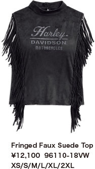 Fringed Faux Suede Top ¥12,100  96110-18VW XS/S/M/L/XL/2XL