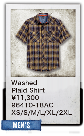 【MEN'S】Washed Plaid Shirt ¥11,300 96410-18AC XS/S/M/L/XL/2XL