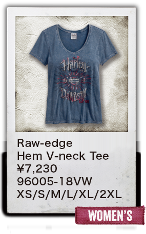【WOMEN'S】Raw-edge Hem V-neck Tee ¥7,230 96005-18VW XS/S/M/L/XL/2XL