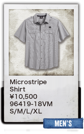 【MEN'S】Microstripe Shirt ¥10,500  96419-18VM S/M/L/XL