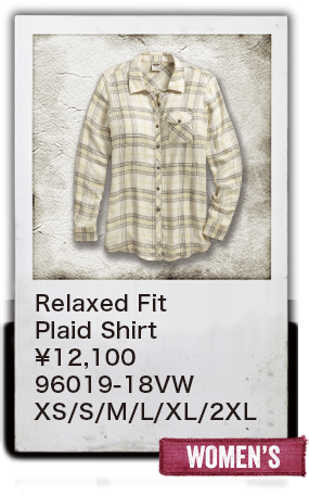 【WOMEN'S】Relaxed Fit Plaid Shirt ¥12,100  96019-18VW XS/S/M/L/XL/2XL