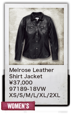 【WOMEN'S】Melrose Leather Shirt Jacket ¥37,000 97189-18VW XS/S/M/L/XL/2XL