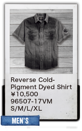 【MEN'S】Reverse Cold-Pigment Dyed Shirt