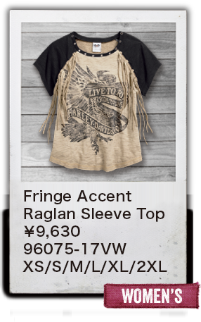 【WOMEN'S】Fringe Accent Raglan Sleeve Top