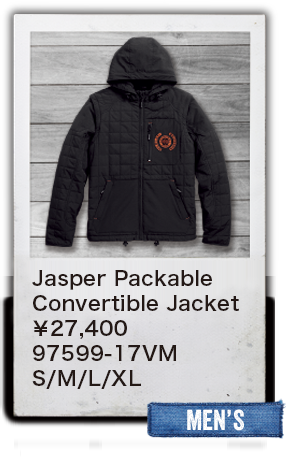 【MEN'S】Jasper Packable Convertible Jacket
