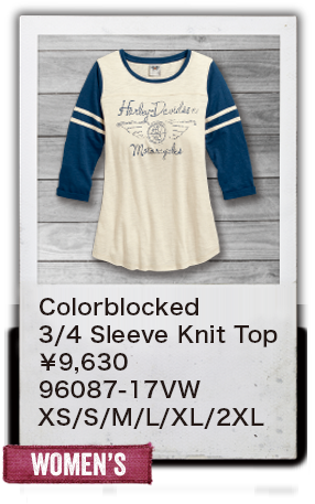 【WOMEN'S】Colorblocked 3/4 Sleeve Knit Top