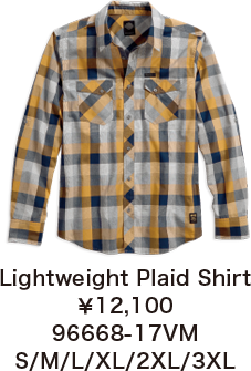 Lightweight Plaid Shirt¥12,100  96668-17VM S/M/L/XL/2XL/3XL
