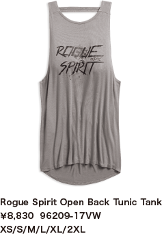 Rogue Spirit Open Back Tunic Tank¥8,830  96209-17VW XS/S/M/L/XL/2XL