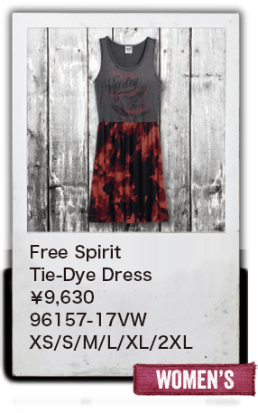 【WOMEN'S】Free Spirit Tie-Dye Dress¥9,630  96157-17VW XS/S/M/L/XL/2XL