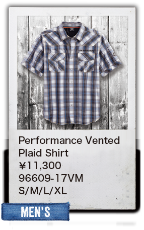 【MEN'S】Performance VentedPlaid Shirt¥11,300  96609-17VM S/M/L/XL