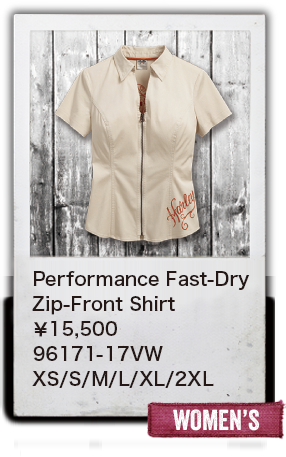 【WOMEN'S】Performance Fast-DryZip-Front Shirt¥15,500  96171-17VW XS/S/M/L/XL/2XL