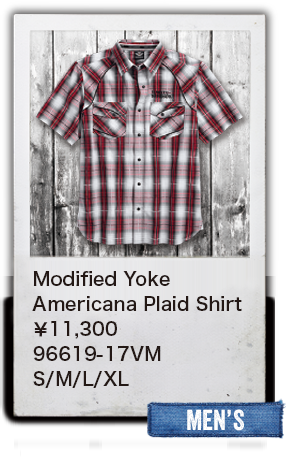 【MEN'S】Modified Yoke AmericanaPlaid Shirt¥11,300  96619-17VM S/M/L/XL
