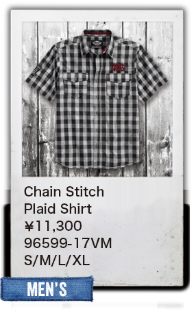 【MEN'S】Chain Stitch Plaid Shirt¥11,300 96599-17VM S/M/L/XL